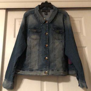 Venezia denim jean jacket size 28 by Lane Bryant